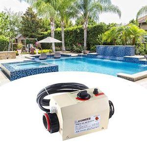 SEAAN Thermostat de Piscine, Thermostat de Chauffe-Eau électrique 220V 3KW, Thermostat de Piscine Baignoire Spa, Chauffe-Piscine Portable, Pompe de Chauffage de Thermostat