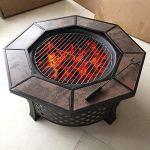 Sunlike Foyers à feu ouvert for le jardin à bois, ronde protection de l'environnement for Firepit jardin multifonction Smokeless extérieur Log Burner