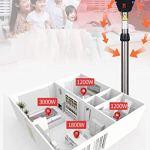 Sunlike Radiateur électrique parapluie, infrarouge chauffage extérieur, fabriqué à partir d'acier inoxydable, 170-210cm Plage à hauteur réglable, sécurité Arrêt automatique Protection Off, chauffée Su