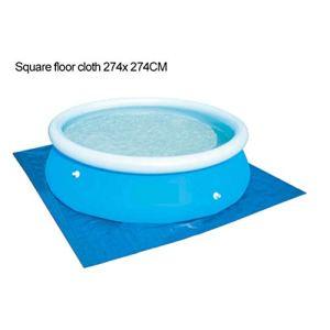 TAIPPAN Tapis de Sol pour Piscine Tapis de Protection pour Piscine Pliable Protecteur de Plancher de Piscine pour Piscine Hors Sol, 274 * 274 cm