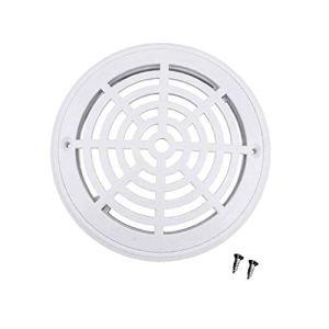 XIAOFANG Piscine Filtre à Eau Anti-Corrosion Couvercle Rond Dispositif de vidange Vis Abs Drain de Plancher Couvercle Rond égoût Port (Color : White)