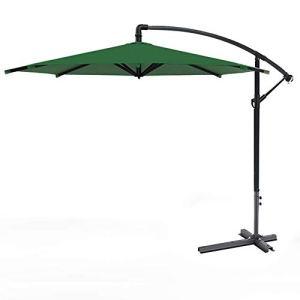 Yuany Parapluie Suspendu en Porte-à-Faux bananier de Jardin de 3m à Angle réglable, Poteau Principal épaissi, avec manivelle, Tissu d'ombrage étanche pour extérieur, Jardin et Patio