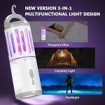 ZYF3 en 1 Tueur de moustiques électronique et éclairage,Lanterne de Secours étanche RechargeablePortablepour intérieur et extérieur