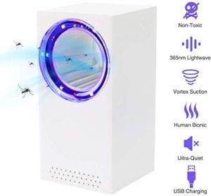ZYFFly Zapper avec Lampe UV, 180 ° Mosquito Killer Light Attire l'insecte Volant Zap pour intérieur et extérieur, Blanc