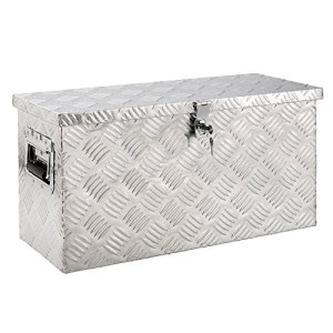 Arebos Boite de Rangement Boite à Outils Truckbox Aluminium 40 L