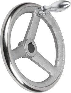 Bascule main Roue avec écrou en fonte grise, Komp: acier, D2= 30, D1= 400, 1pièce, k0671.5400x 30