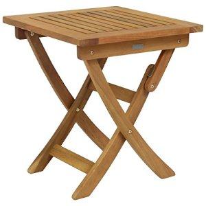 Bentley Garden – Table de Jardin carrée Pliable – Bois balau – Petite