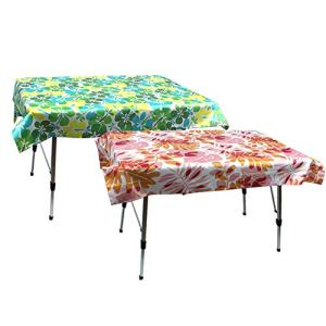 BESISOON Nappe décorative Extérieur Polyester for Nappes Tables rectangulaires 2 pièces Rouge et Vert Huile épreuve/imperméable à l'eau for Pique-Nique Décoration de Table