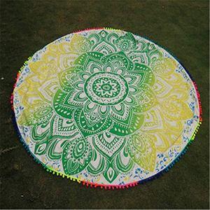 Big Flower Gradient Serviette de plage Multifonctionnel Plage Extérieur pad Soleil Châle, 80 % fibre de polyester + 21 % fibre de polyamide., a, 57*57IN