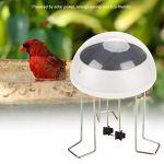 FOTABPYTI Coquille Transparente Eco-Friendly Solar Power Water Wiggle pour Le Bain d'oiseaux, Wiggle de l'eau de Conception Super Simple pour Le Bain d'oiseaux, alimenté par l'énergie Solaire pour Le