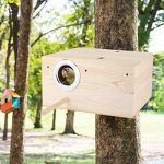KSTORE Oiseaux Animaux Reproducteurs Boîte Oiseaux en Bois Durables Nichoir Perruches Oiseaux Nicheurs Maison Jardin Jardin Décoration,24.5 * 13 * 13cm