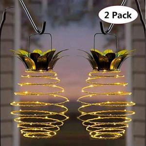 Lot de 2 lampes ananas suspendues, décors de terrasse, lampes étanches, décorations de vacances