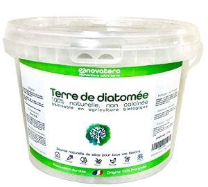 NOVATERA Terre de Diatomée 100% Naturelle – 1,3 kg – Garantie Origine France – Ultrapure – Formats 0,3 à 12 kg – Protection écologique – ECOCERT Utilisable Agriculture Biologique