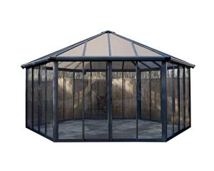 Palram Tonnelle de Jardin Fermée Garda™ – Structure Aluminium et Murs en Acrylique Transparent – Pièce D'extérieur pour Un Usage Toute L'année – 20,6m²
