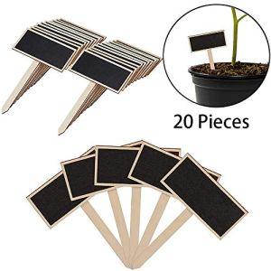 Xinlie Etiquettes à Planter Mini Signe des étiquettes en Bois D'Usine De Bois éTiquettes Mini Ardoises Jardin Fleurs et Plantes étiquettes pour Greenhouse Balcon High-Beet, Pot de Fleur (20PCS)