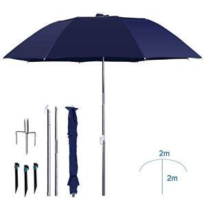 YANJ Pare-Soleil Portable Umbrella | 2,4m |Pêche Parasol | Height2.15m |Inclinable/Protection UV / 3 Pliante – couramment utilisés dans Le Jardin/Plages/Pêche Essential (Color : Black, Size : A)