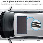 100 65cm Toit ouvrant de toit pare-soleil, filet de protection magnétique, pare-soleil magnétique, toit de voiture, installation rapide, protection solaire UV lors du stationnement en voyage (noir)