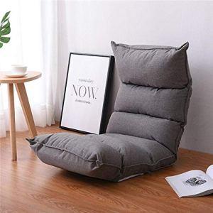 ASIG Chaise Longue Confortable de sièges de Plancher de Salon de Meubles de Salon de Sofa de Chaise, Couleur Grise