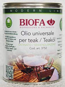 BIOFA 3752-5166 PALISSANDRO 1 L Huile naturelle universelle pour ameublement en bois extérieur