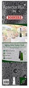 Bosmere Neuf Thunder Gris carré pour Chauffage de terrasse–Gris Reversable Green and Black