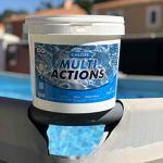 Chlore Multi Actions Piscine – Galets 250g – Seau 5 kg – Chlore Piscine Galets Multi Fonctions Longue Durée – EDG