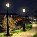 Continental traditionnel Victoria Crystal lampe à colonne étanche 1 lumière herbe villa lumières paysage paysage pôle lumières extérieures LED lumières E27 lampadaire décoration (taille: 180