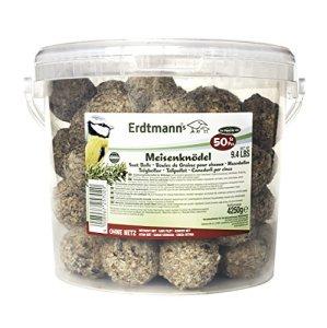 Erdtmanns Seau 50 Boules de Graisse sans Filets pour Oiseaux