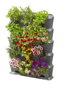 Gardena Natureup! Kit de Base Vertical avec Arrosage: Mur Végétal pour la Végétalisation de Balcons / Terrasses / Cours Intérieures, Kit de pour 15 Plantes, Système Enfichable Simple (13151-20)