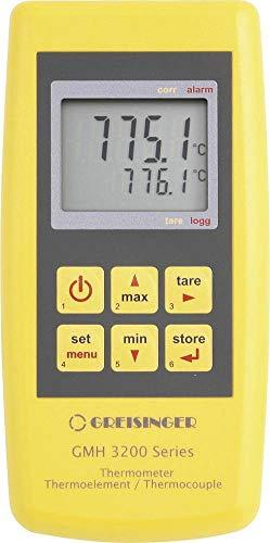 GHM Greisinger GMH 3251 Thermomètre de précision 2 canaux avec Logo Jaune