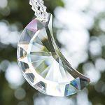 H&D HYALINE & DORA Cristal en forme de lune en forme de lune arc-en-ciel à suspendre avec perles de couleur chakra