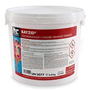 Höfer Chemie 1 x 5 kg BAYZID Granulé de Chlore Choc pour Piscine – HAUTEMENT EFFICACES Rapidement solubles avec Une teneur en Chlore Actif de 56%