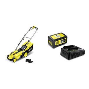 Kärcher 1.444-400.0 Tondeuse LMO 18-33 (sans batterie amovible) + Set batterie Power 18V / 5 Ah et chargeur rapide