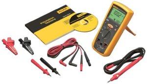 Kit comprenant thermomètre infrarouge, testeur électrique et détecteur de tension 200V-1000V