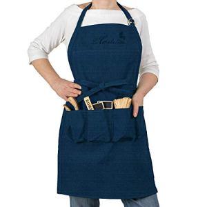 La Cordeline CJN45JE Tablier de Jardin Coton Bleu Jean 85 x 03 x 75 cm