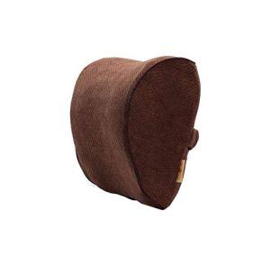 LF- Oreiller de voiture en coton à mémoire de forme pour appuie-tête de voiture, coussin de voiture, appuie-tête de voiture (couleur : marron, taille : extra épais)