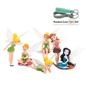 Matecam Lot de 6différents Fleur Fée Décorations figurine miniature pour jardin Pot de fleurs Craft Dollhouse Décoration