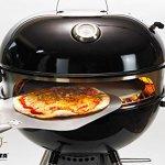 Moesta-BBQ Smokin' PizzaRing – Kit pizza pour barbecue à boule – Avec pelle à pizza, pierre à pizza, plaque à pizza et thermomètre – Pour barbecues de 47 à 67 cm de diamètre für 47cm Kugelgrills