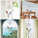 Nerplro Boule de cristal en verre transparent Prismes Capteur de soleil Arbre de vie Décoration à suspendre Décoration colorée Décoration de jardin