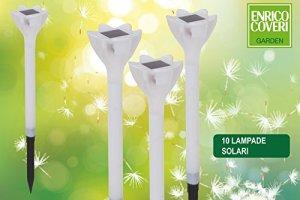 PARTENOPE pea6063Lampe Solaire LED, modèle Fleur, 30cm