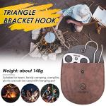 perfecthome Triangular Bracket Hook Cast Iron Grill Triangular Hanging Pot Heavy Aluminum Structure Multifunctional Picnic Hook (OPP Bag)