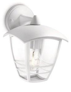 Philips Luminaire Extérieur Lanterne Murale descendante Creek Blanche 1x60W 230V