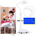 Portable Beautician Lamp Led16xmagnifier Lamp Magnification Usb Charging Adjustable Height, For Beauty Salon Skincare Grafting Eyelashes Make Up Manicure(wheel)