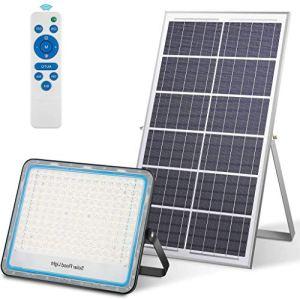 Projecteur Solaire Exterieur LED 200W, Lumière d'inondation Solaire avec Télécommande Spot Lampe Solaire Exterieur 360 LED Étanche IP67