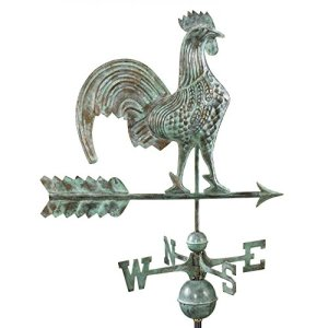 Rooster Weathervane Blue Verde Copper + FRT