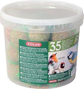 Seau de 35 boules de graisse de 90g avec filet pour oiseaux du ciel/ZOLUX