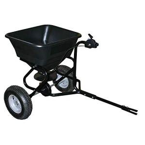 WilTec Epandeur 30 kg avec pneus à air/possibilité d'attache à Un Tracteur Tondeuse
