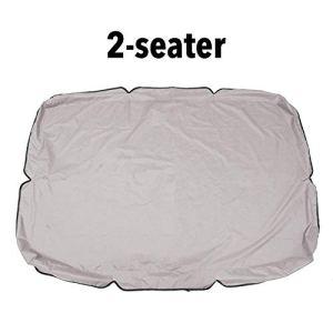 Aheadad – Auvent de rechange pour balancelle 2 et 3 places – Imperméable – Protection contre les UV – Parasol de jardin extérieur, 2 places., gray