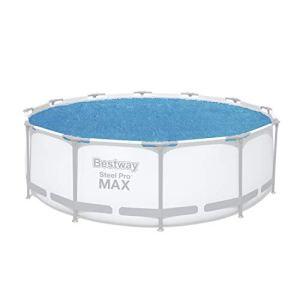 Bestway – Bâche solaire ronde diamètre 356 cm pour piscine hors sol Fast Set et Frame Pool diamètre 366 cm
