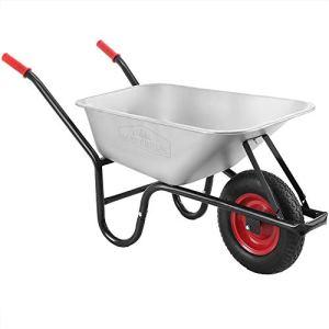 Brouette de chantier Remorque Chariot Transport 250kg Métal Galvanisé – 100 L