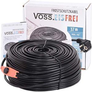 Câble Chauffant Anti-Gel avec Thermostat VOSS.sans Fer 1 m 2 m 4 m 8 m 12 m 14 m 18 m 24 m 37 m 49 m 230 V Câble Chauffant pour protéger Les conduits d'eau et Les abreuvoirs